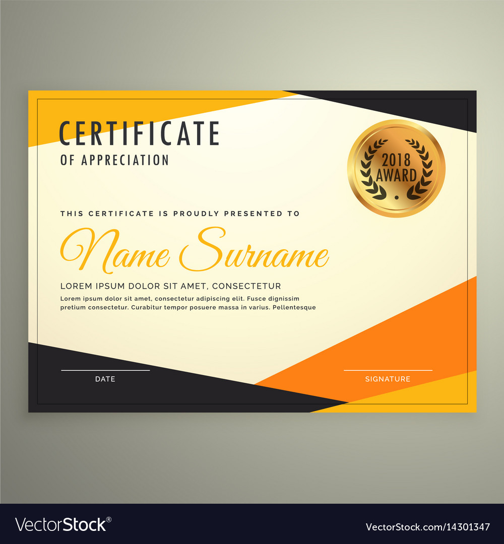 Certificate Design Template With Clean Modern With Design A Certificate Template