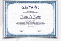 Certificate Landscape Template Stock Vector – Illustration regarding Landscape Certificate Templates