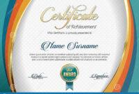 Certificate Of Achievement. Landscape. Template. Stock in Landscape Certificate Templates