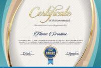 Certificate Of Achievement. Landscape. Template. Stock throughout Landscape Certificate Templates