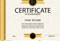 Certificate Of Achievement Or Diploma Template. Vector Stock intended for Certificate Of Attainment Template