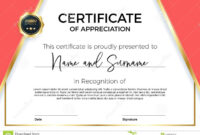 Certificate Of Appreciation Or Achievement With Award Badge pertaining to Template For Certificate Of Award