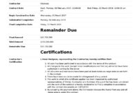 Certificate Of Completion For Construction (Free Template + with Construction Payment Certificate Template