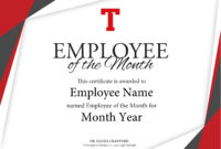 Certificate Of Employee The Month Template Brochure regarding Employee Of The Month Certificate Template
