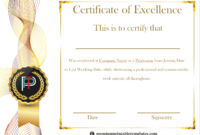 Certificate Of Excellence Template | Certificate Design in Best Performance Certificate Template