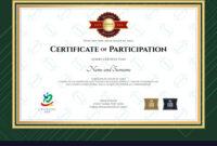 Certificate Of Participation Template In Sport The within Certificate Of Participation Template Pdf