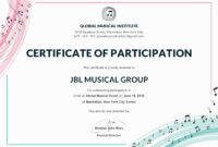 Certificate Of Participation Template Or Word Doc With Docx inside Certificate Of Participation Word Template
