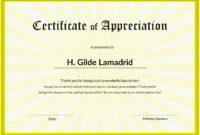 Certificate Of School Appreciation Template within Certificate Templates For School