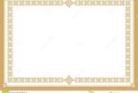 Certificate Stock Vector. Illustration Of Award, Blank Inside Award Certificate Border Template