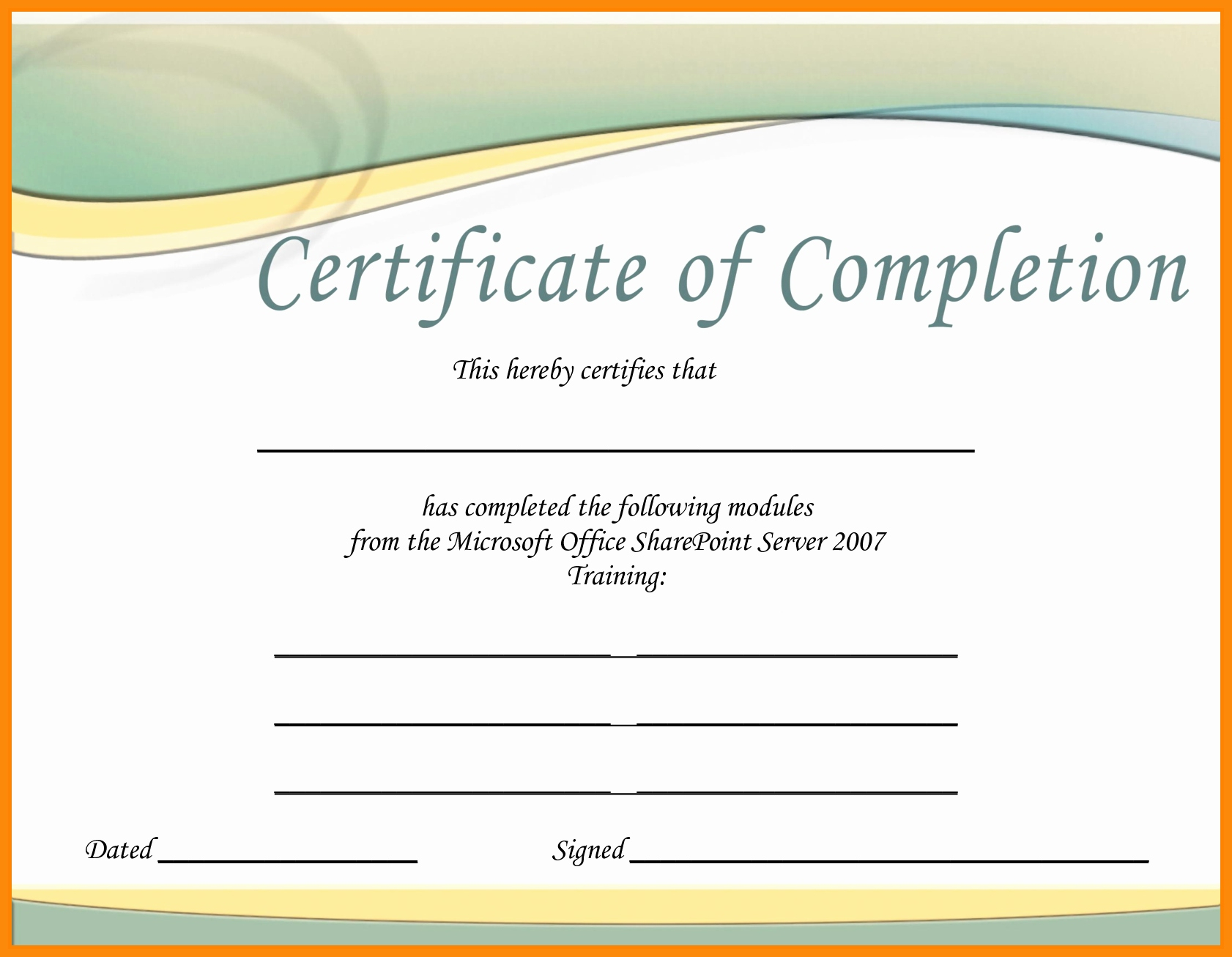 Certificate Template Archives - Atlantaauctionco Within Free Certificate Templates For Word 2007