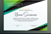 Certificate Template Design In Green Black in Design A Certificate Template