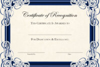 Certificate Template Designs Recognition Docs | Blankets Intended For Certificate Of Recognition Word Template