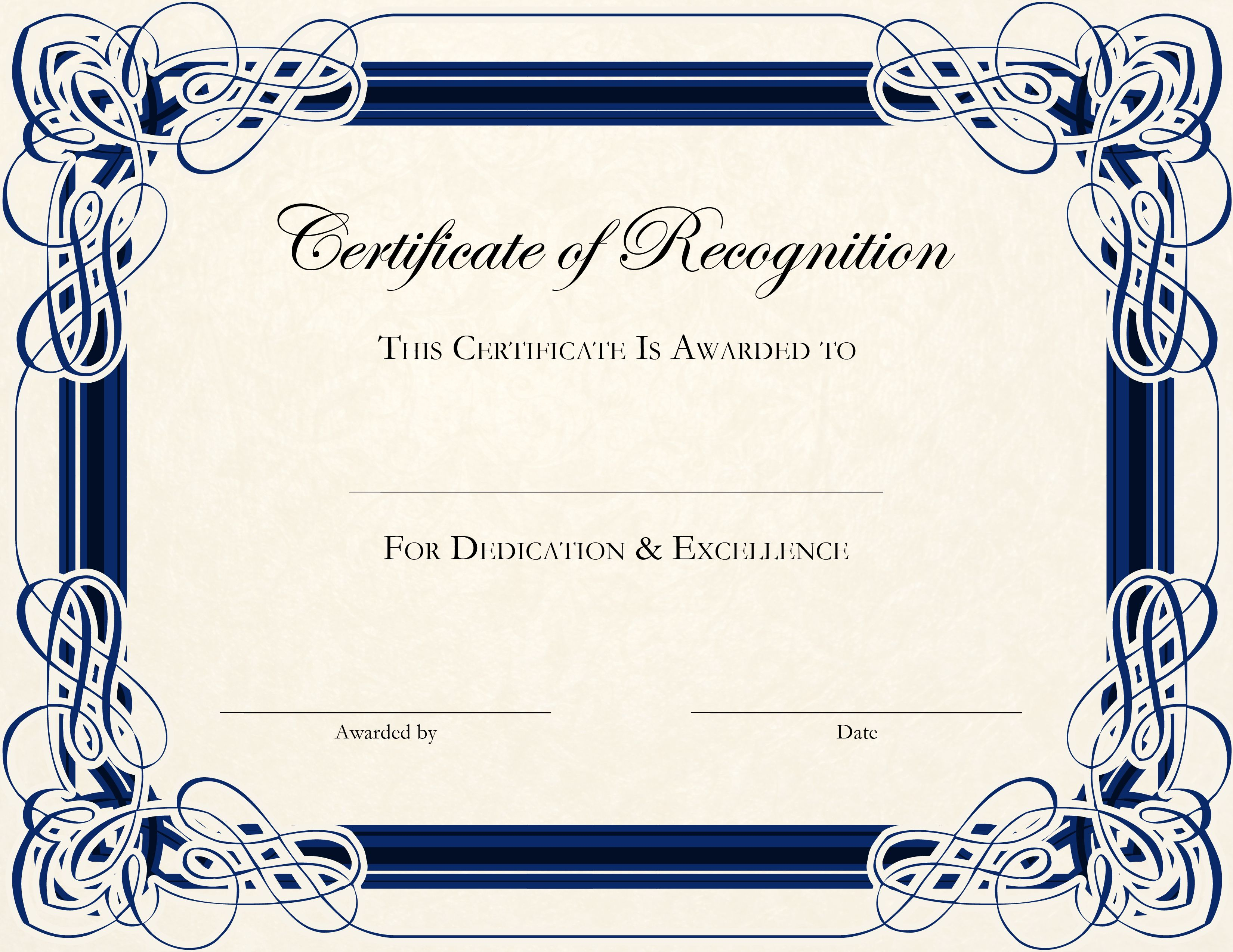 Certificate Template Designs Recognition Docs | Blankets Regarding Template For Certificate Of Appreciation In Microsoft Word