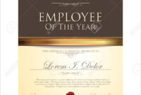 Certificate Template, Employee Of The Year for Manager Of The Month Certificate Template