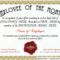 Certificate Template Employee Recognition Award Star Intended For Employee Anniversary Certificate Template