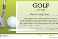 Certificate Template For Golf Star With Green Background within Golf Gift Certificate Template