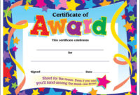 Certificate Template For Kids Free Certificate Templates pertaining to Star Certificate Templates Free