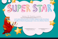 Certificate Template For Super Star for Star Certificate Templates Free