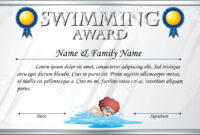 Certificate Template For Swimming Award Illustration inside Swimming Certificate Templates Free