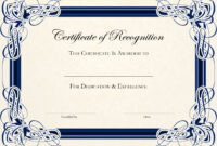 Certificate-Template-Free-Blue-2016 with Anniversary Certificate Template Free
