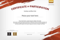 Certificate Template In Rugby Sport Theme With Vector Image throughout Rugby League Certificate Templates