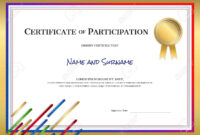 Certificate Template In Sport Theme With Border Frame, Diploma.. in Certificate Border Design Templates