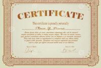 Certificate Template Stock Vector. Illustration Of Market within Free Stock Certificate Template Download