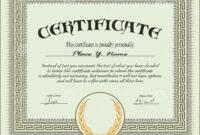 Certificate Template Stock Vector. Illustration Of within Free Stock Certificate Template Download