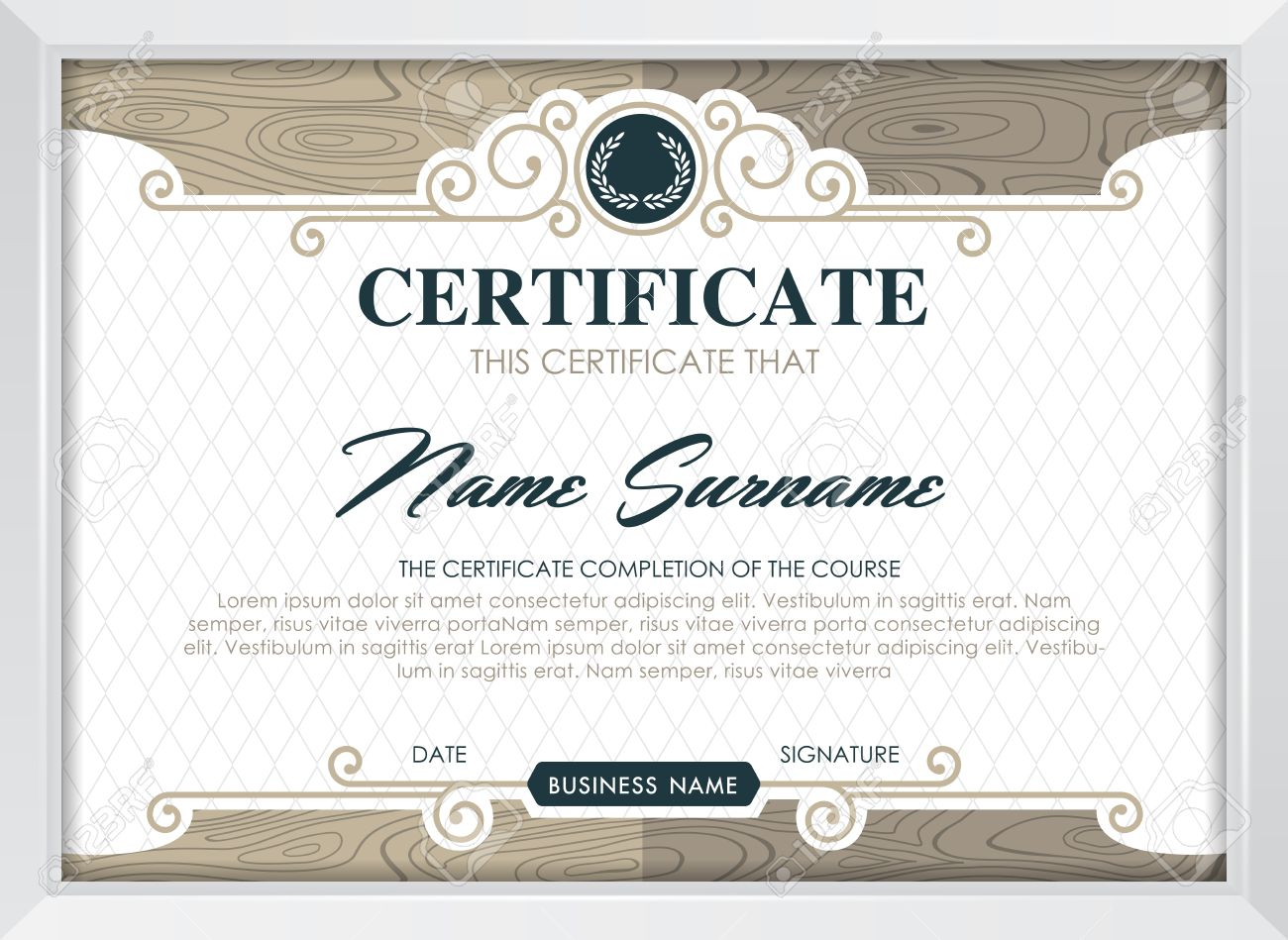 Certificate Template With Clean And Modern Pattern, Luxury  Golden,qualification.. With Regard To Qualification Certificate Template