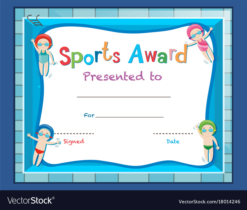 Certificate Template With Kids Swimming Regarding Free Swimming Certificate Templates