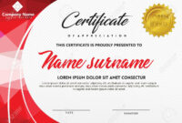 Certificate Template With Polygonal Style And Modern Pattern.. for Workshop Certificate Template