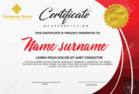 Certificate Template With Polygonal Style And Modern Pattern.. inside Workshop Certificate Template