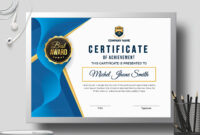 Certificate Templatecreative Touch On Dribbble for Landscape Certificate Templates