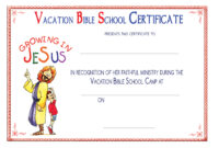 Certificate Templates: 5 Best Images Of Printable Vbs inside Free School Certificate Templates