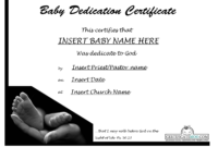 Certificate Templates: Certificate Templates Baby Dedication with Baby Christening Certificate Template