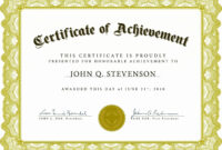 Certificate Templates: Template Certificate Of Appreciation with Certificate Of Excellence Template Free Download