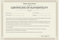 Certificate Templates: Template Certificate Of Authenticity throughout Photography Certificate Of Authenticity Template