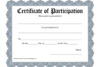 Certificate Templates: Workshop Participation Certificate throughout Certificate Of Participation In Workshop Template