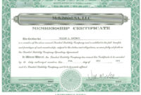 Certificates: Awesome Llc Membership Certificate Template with regard to Llc Membership Certificate Template Word