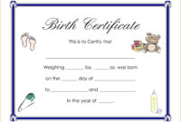 Certificates: Breathtaking Birth Certificate Template with regard to Birth Certificate Fake Template