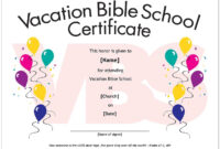 Certificates. Breathtaking Vbs Certificate Template Ideas intended for Free Vbs Certificate Templates