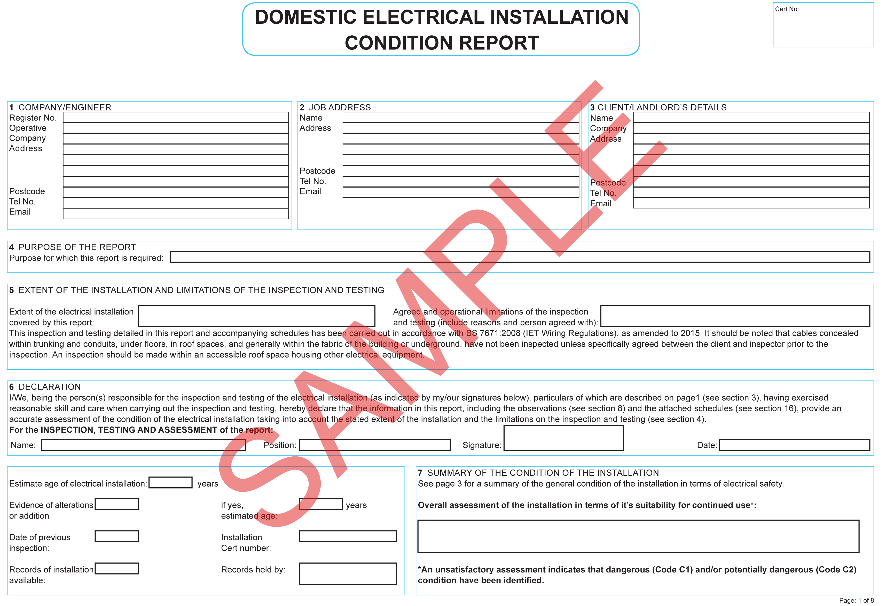 Certificates | Everycert For Electrical Minor Works With Minor Electrical Installation Works Certificate Template