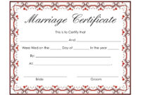 Certificates. Inspiring Marriage Certificate Template throughout Blank Marriage Certificate Template