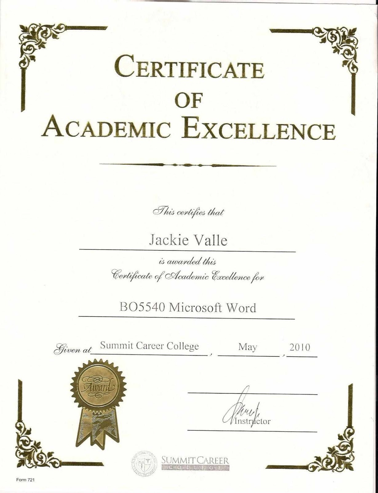 Certificates. Mesmerizing Award Certificate Template Word Inside Academic Award Certificate Template