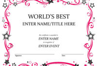Certificates: Mesmerizing Fun Certificate Templates Example intended for Soccer Certificate Templates For Word