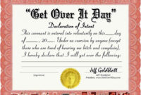 Certificates: Mesmerizing Fun Certificate Templates Example with regard to Funny Certificates For Employees Templates