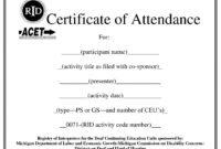 Certificates. Popular Attendance Certificate Template Word within Attendance Certificate Template Word