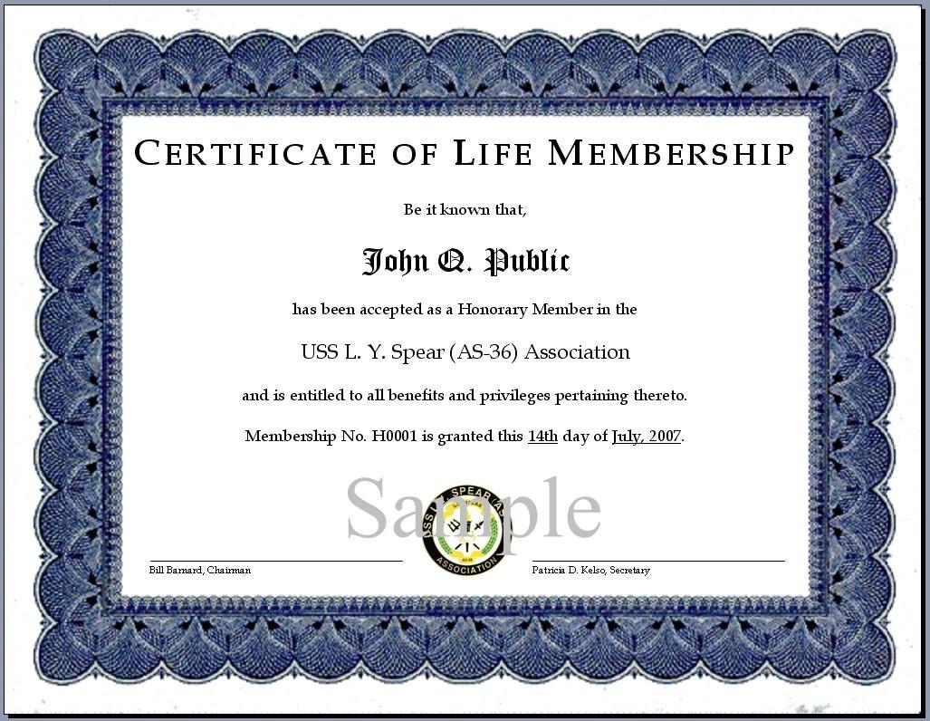Certificates. Simple Membership Certificate Template Sample Throughout Life Membership Certificate Templates