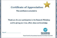 Certificates: Surprising Word Template Certificate Designs for Certificate Of Participation In Workshop Template