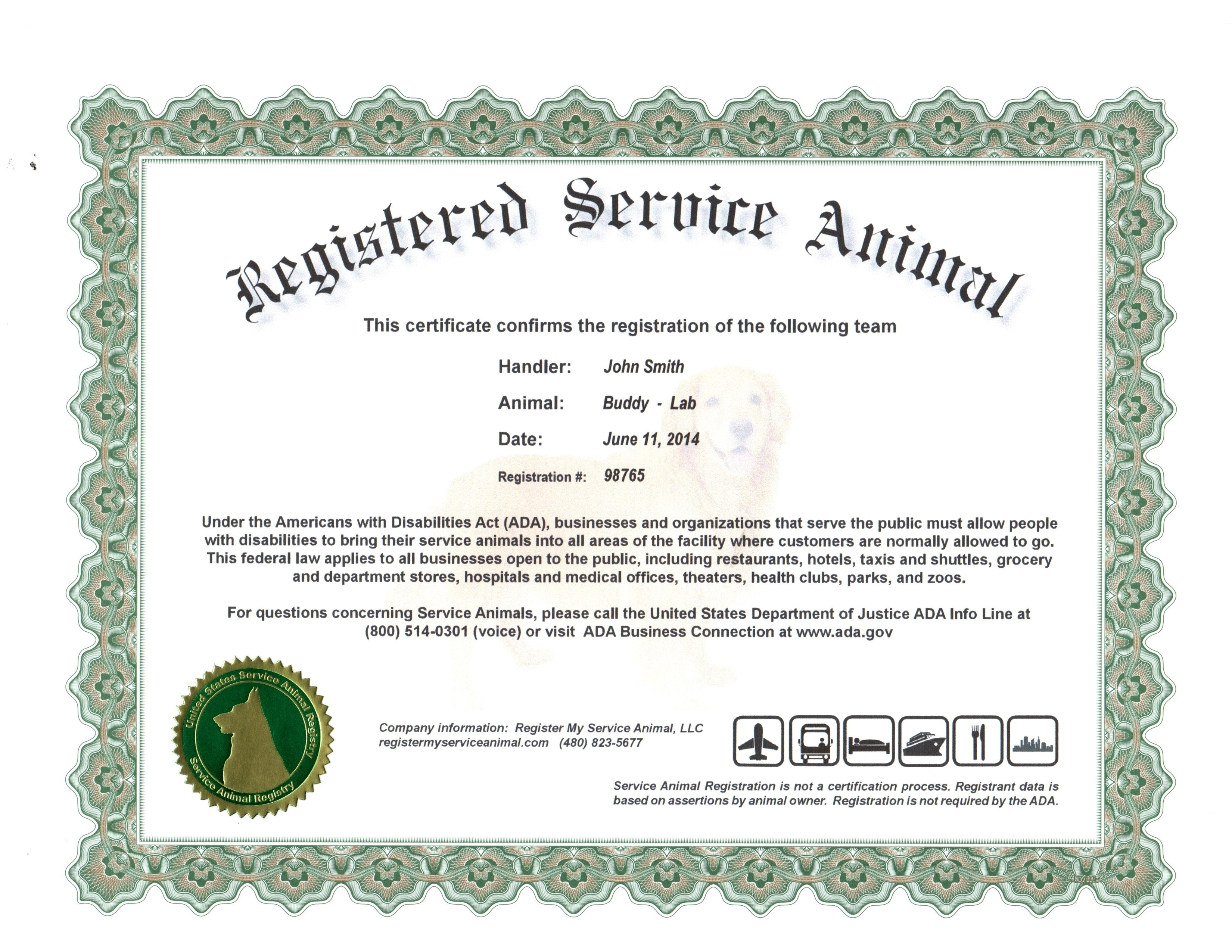 Certificates. Terrific Service Dog Certificate Template For Service Dog Certificate Template